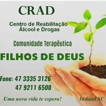 CRAD Centro de Reabilitação Álcool e Drogas Comunidade Terapêutica FILHOS DE DEUS